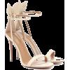 AQUAZZURA Deneuve 105 leather sandals - Sandalias -
