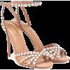 AQUAZZURA Pearl 105 leather sandals - Sandals -