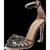 AQUAZZURA black embellished sandal - Sandały -