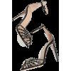 AQUAZZURA black embellished sandals - Sandale -