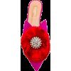 AQUAZZURA Crystal Lotus Mules - Balerinki -