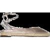 AQUAZZURA gold ankle-tie leather espadri - Flats -