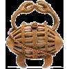 ARANAZ Crab wicker clutch bag - Hand bag -