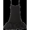 AREA black ruffled mini dress - Dresses -