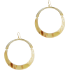 ARGENTO VIVO Flat Gold Hoops - Earrings -