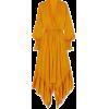 ARJÉ Ruffled asymmetric silk-satin maxi - sukienki -