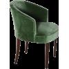 ART DÉCO green velvet chair - Furniture -