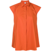 ASPESI sleeveless flared blouse orange - Camisas - $226.00  ~ 194.11€