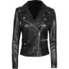 ASYMMETRICAL WOMEN BLACK LEATHER BIKER JACKET - Jacket - coats - 200.00€  ~ $232.86