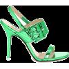 ATTICO Embossed metallic leather sandals - Sandals -