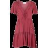 AUGUSTE rusty red mini dress - Haljine -