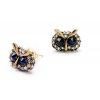 Aapo Antique Gold Pair of Owl Earrings w - Earrings - $59.00