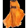 Abed Mahfouz Orange & Black Gown - Dresses -