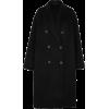 Acne Black Oversized Coat - Chaquetas -