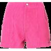 Adaptation dark pink corduroy shorts - Shorts -