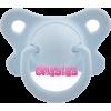 Adult Sized Butterfly Pacifier - Blue - Uncategorized -