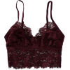 Aerie Ribbed Holiday Lace Longline Brale - Underwear -