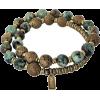 African Turquoise Mala Bracelet - 手链 -