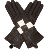 Agnelle - Leather checkerboard gloves - Luvas - $155.00  ~ 133.13€