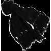 Ak Anne Klein Women's Solid Running Stitch Muffler Black - Scarf - $38.40