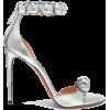 Alaïa Bombe studded metallic leather sa - Sandals -