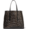 Alaïa Laser-cut leather tote - Travel bags -
