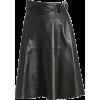 Alaïa Leather Belt Effect Swing Skirt - Skirts -