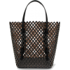 Alaïa Studded laser-cut leather tote - Travel bags -