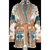 Alanui intarsia-pattern Icon cardi-coat - Westen -