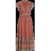 Alastair Jacquard Dot Silk Blend Midi Dr - ワンピース・ドレス -