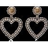 Alessandra Rich - Crystal earrings - Brincos - $170.00  ~ 146.01€