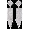 Alessandra Rich- Diamond fringe earrings - Brincos - $336.00  ~ 288.59€