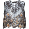 Alessandra Rich embellished lace top - Tanks -