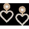 Alessandra Rich oversized heart earrings - Earrings -