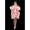 Alexander McQueen Pink dress runway - Pessoas -