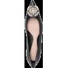 Alexander McQueen bead-detail pointed pu - Flats -
