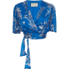 Alexis Rylie Printed Satin Cropped Top - Majice bez rukava -
