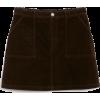 A-line cord mini skirt - Krila -