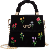 Alix Shadow Velvet Top Handle Handbag SK - Hand bag -