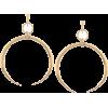 Alloy Tribal Moon Earrings - Earrings -