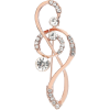 Alloy Diamond-studded Musical Note Brooch Nhje307957 - Other jewelry -