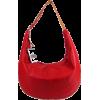 BRUNO ROSSI Italian Shoulder Bag Cross-body Hobo Bag in Red Leather - Borse - $429.00  ~ 368.46€