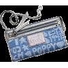 Coach Signature Star Doodle Zippy Capacity Clutch Wallet Wristlet Bag 45490 Denim - Wallets - $108.99