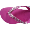SWAROVSKI CRYSTAL HAVAIANAS SANDALS THONGS FLIP FLOPS HOT PINK/DOTS - Thongs - $74.99