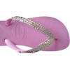SWAROVSKI CRYSTAL HAVAIANAS SANDALS THONGS FLIP FLOPS PINK/CLEAR U.S. SIZES 4-10 - Thongs - $69.99