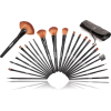 Shany Studio Quality Natural Cosmetic Brush Set with Leather Pouch, 24 Count - Cosmetics - $16.95