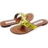 Steve Madden Swindlee Green / Yellow Flip Flop Shoes - Thongs - $30.00  ~ £22.80
