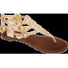 Steve Madden Womens Thong Sandals Saahara Dusty Gold - Japanke - $59.99  ~ 51.52€