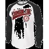 adidas Alabama Crimson Tide White-Black Underscore Raglan Long Sleeve T-shirt - Long sleeves t-shirts - $39.95