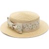 Amelia - Cream Girls Floral Bow Paper St - Hat -